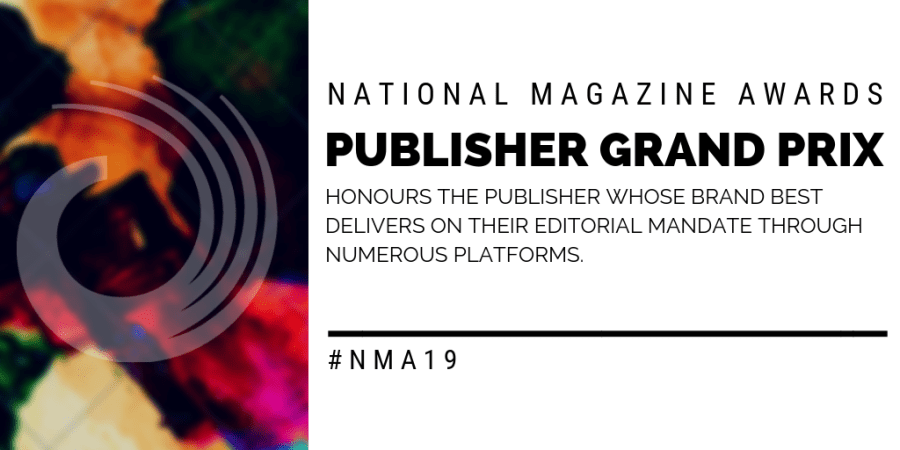 Call for Entries: Publisher Grand Prix – National Magazine Awards