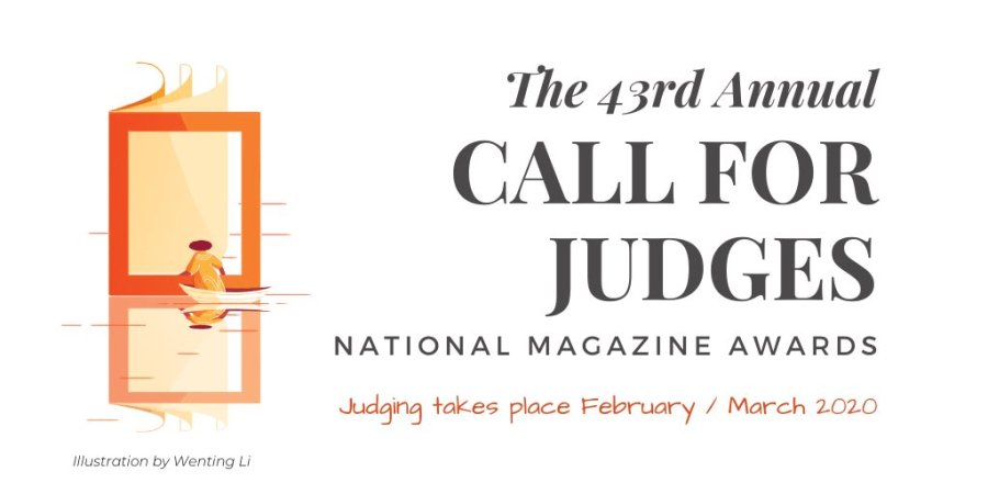 The 43rd Annual Call for Judges for the National Magazine Awards.