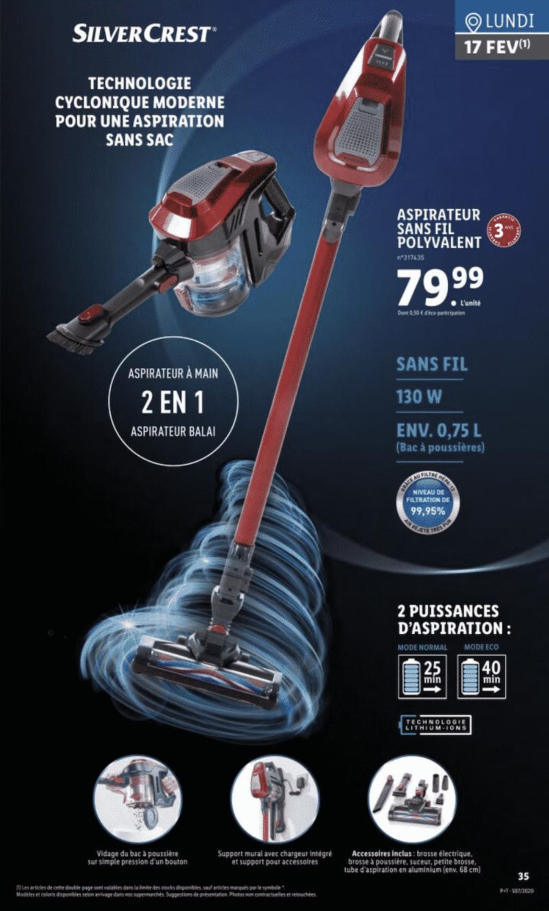 aspirateur sans fil silvercrest a 79 99 euros chez lidl mag eco