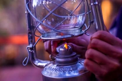 Lantern-lit dinners in the bush
