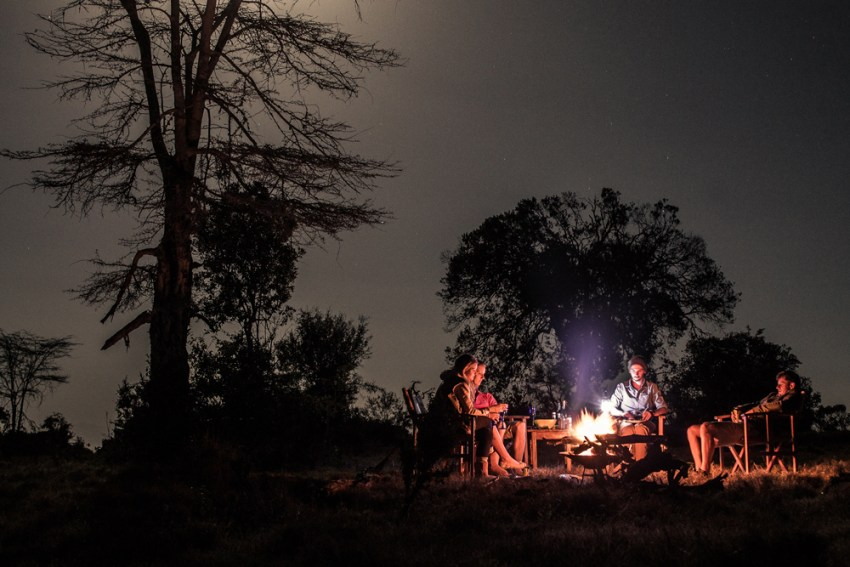 Dinner under the stars © Ol Pejeta Safari Cottages
