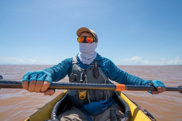 Ross Exler paddling