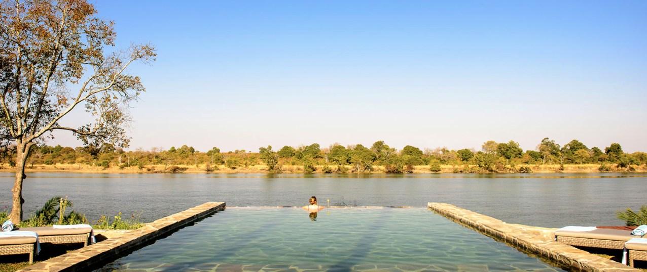 The infinity pool at Ila Safari Lodge