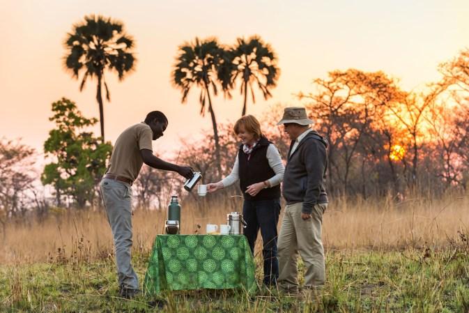 Sundowners at Nanzhila Plains Safari Camp