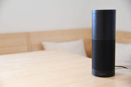 Amazon Alexa device on a counter