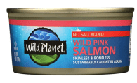 Wild Planet Canned Wild Pink Salmon, an excellent source of vitamin A