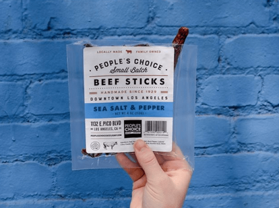 Photo of beef jerky captured by People's Choice Beef Jerky as seen on their Instagram.