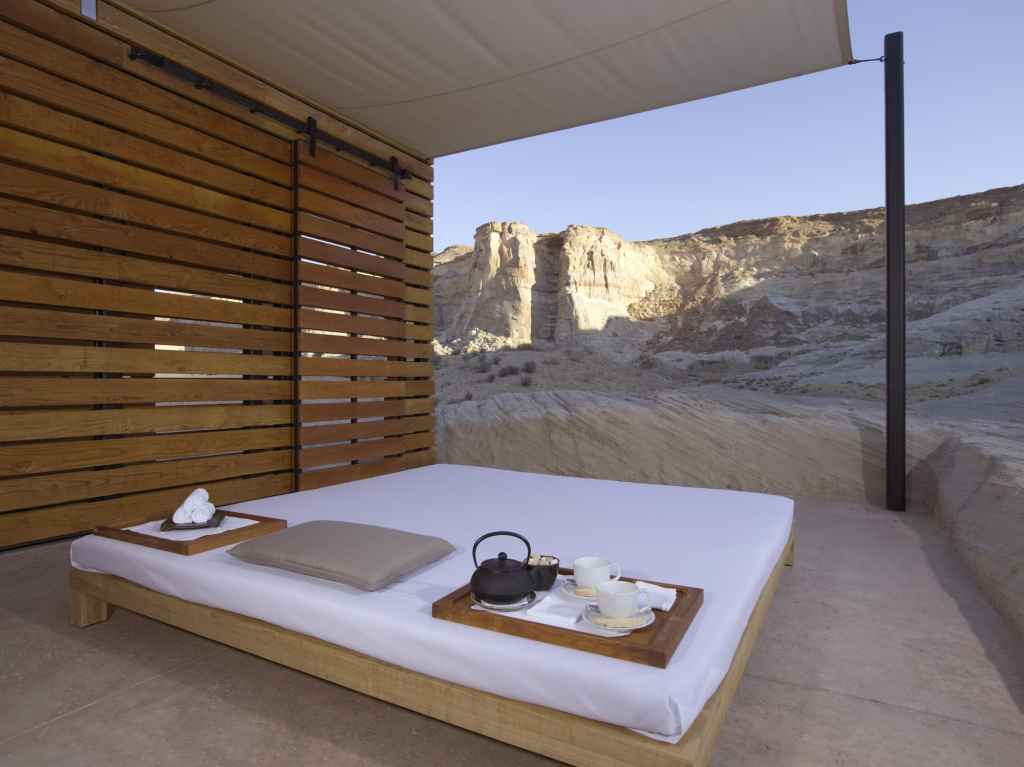 Amangiri spa Thai massage pavilion | Image courtesy of Aman