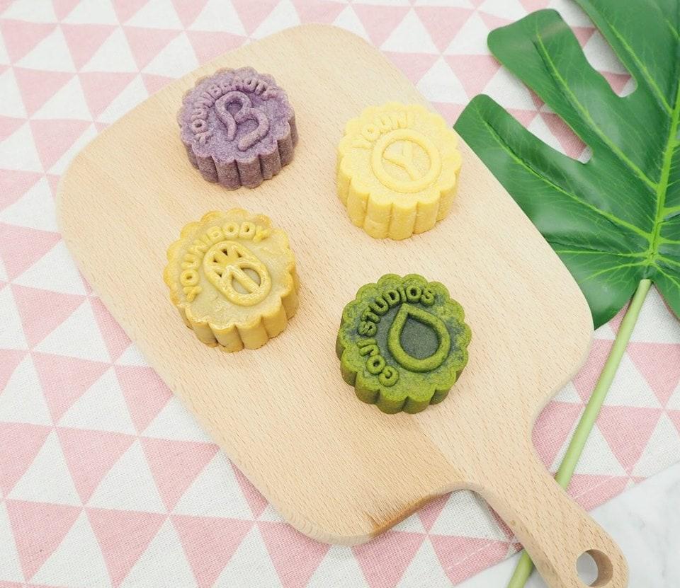 healthy mooncakes, low calorie mooncakes, vegan mooncakes, gluten free mooncakes