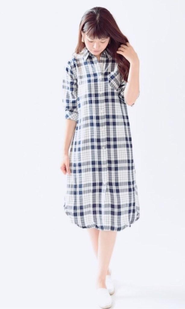 授乳服は買わずに乗り切る! 普段の服でおしゃれに着回す冬のコーデ術♪/授乳中にワンピースが着たくなったら、シャツワンピが使える!