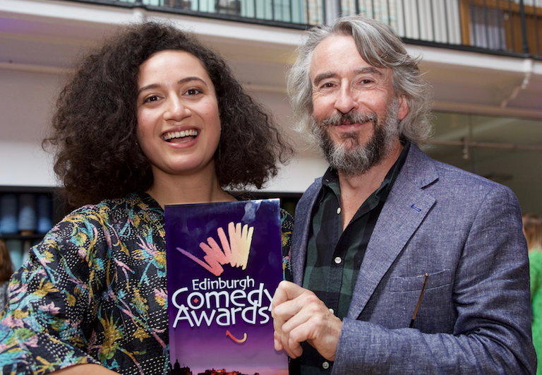 Rose Matafeo and Steve Coogan at Edinburgh Comedy Awards