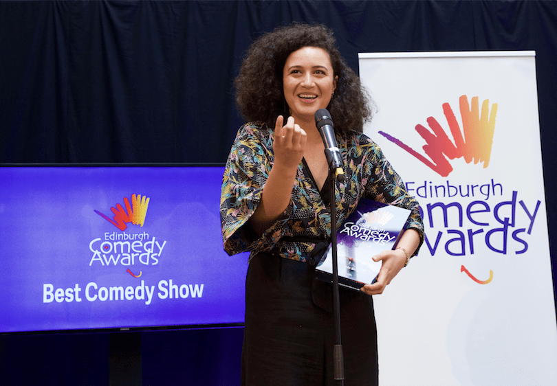 Rose Matafeo with Edinburgh Comedy award