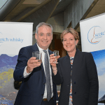 Richard Lochhead and Karen Betts at Scottish parliament