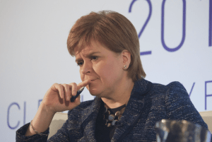 Nicola Sturgeon contemplating