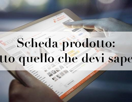 scheda prodotto ecommerce