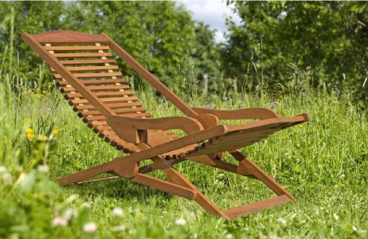 sedia in legno teak
