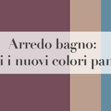 colori pantone arredo bagno