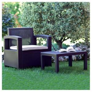 tavolino poltrona giardino resina