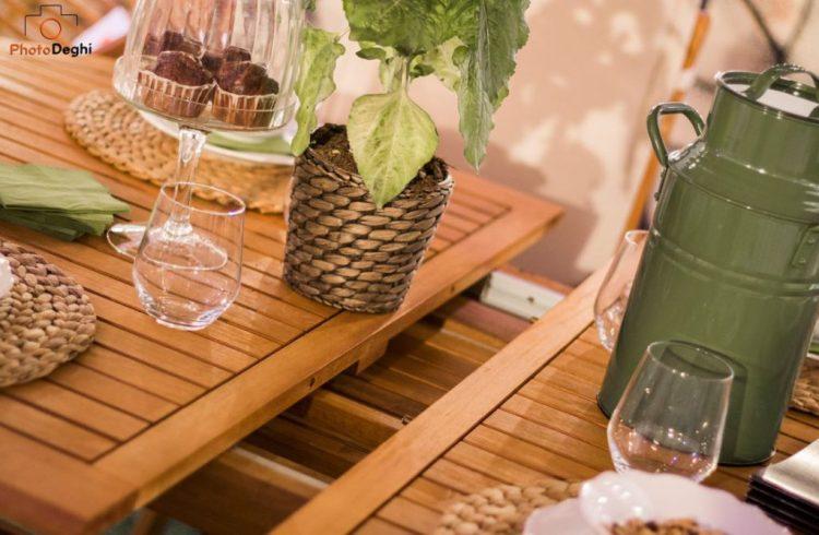 set tavolo giardino teak