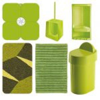 Set accessori bagno verde