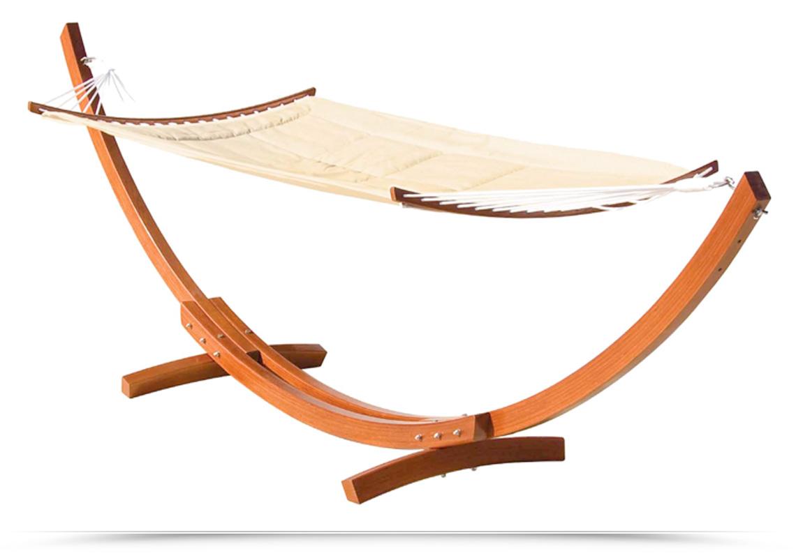 arredo legno balau giardino esterno amaca relax