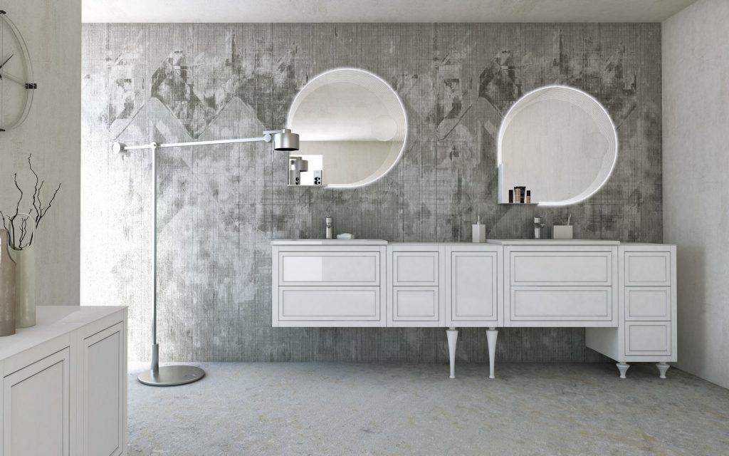 mobili bagno di lusso bianco