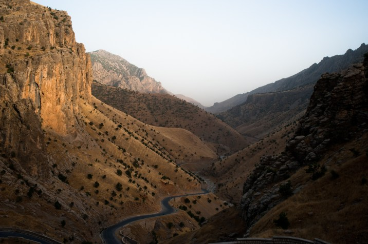 KRG. View of Qandil mountains. In July 2015 Turkish F16 bombed the bases of PKK where it is located since 2000. The Qandil mountains are a sanctuary, stretching westward from the Iraq-Iran border about 30 kilometers into Turkish territory