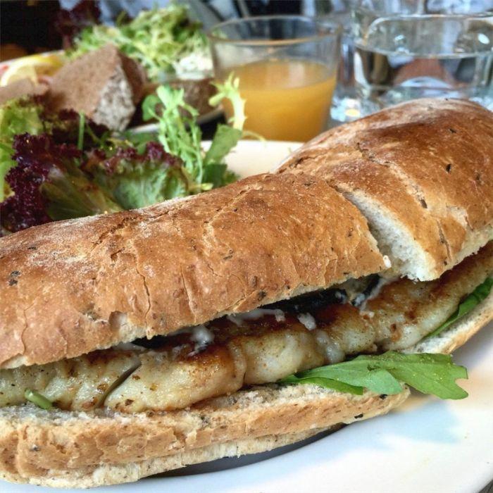 pumpernickel sandwich
