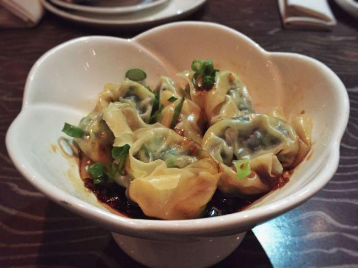 Wonton in Garlic and Chili Sauce (Sichuan)