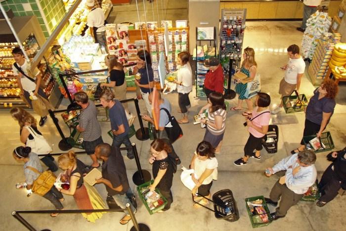 Long queue in Singapore