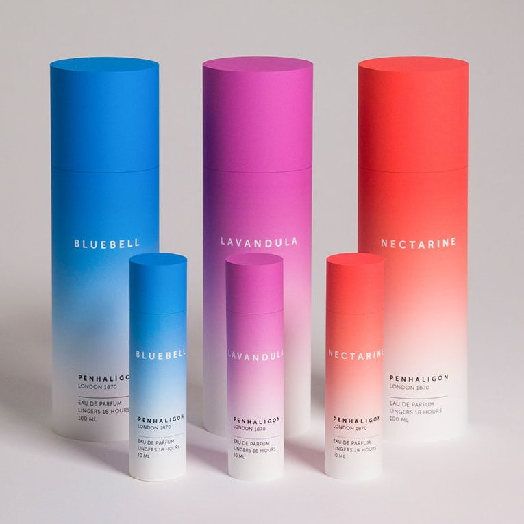 tone on tone gradient effect in bold colors for bottles packaging