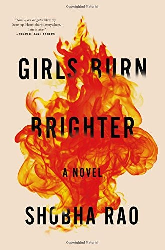 girls burn brighter book cover design