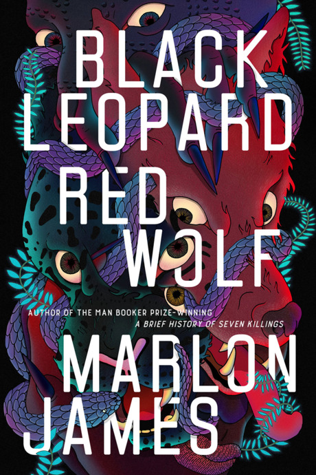black leopard red wolf book cover design
