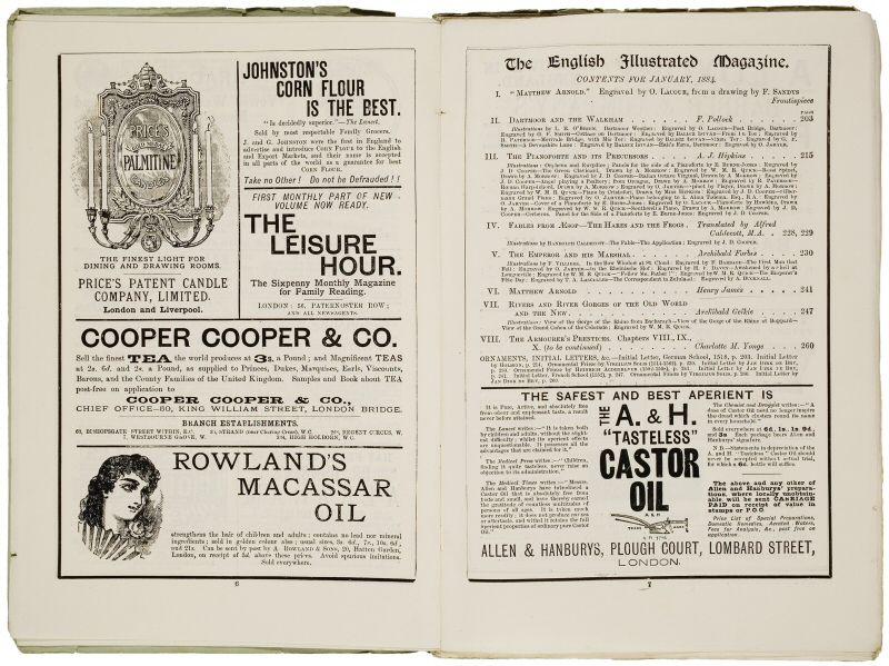 עמוד פרסום מתחילת המאה ה 20, מחולק למקטעים