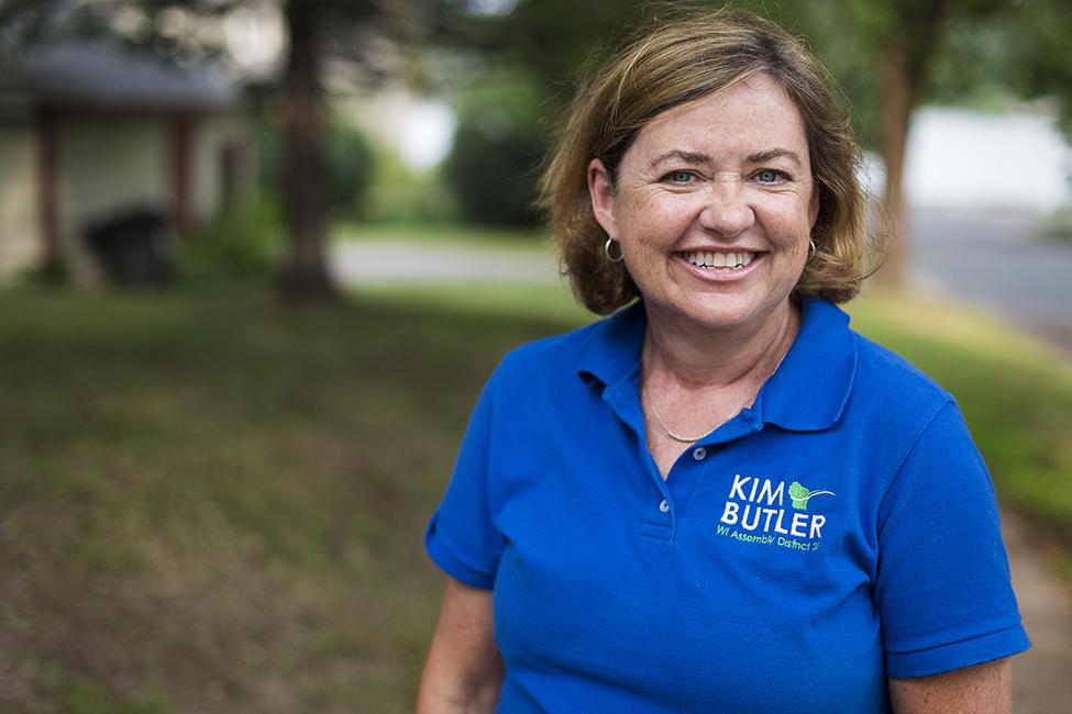 Kim Butler smiles at the camera