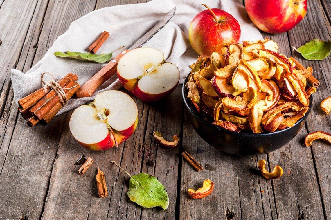 merenda sana - chips di mela e cannella