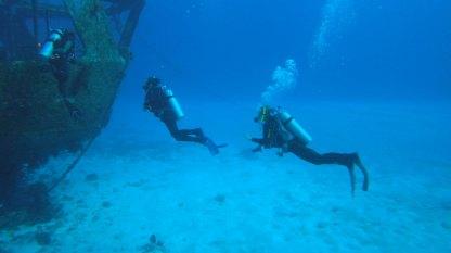 By the shipwreck Felipe