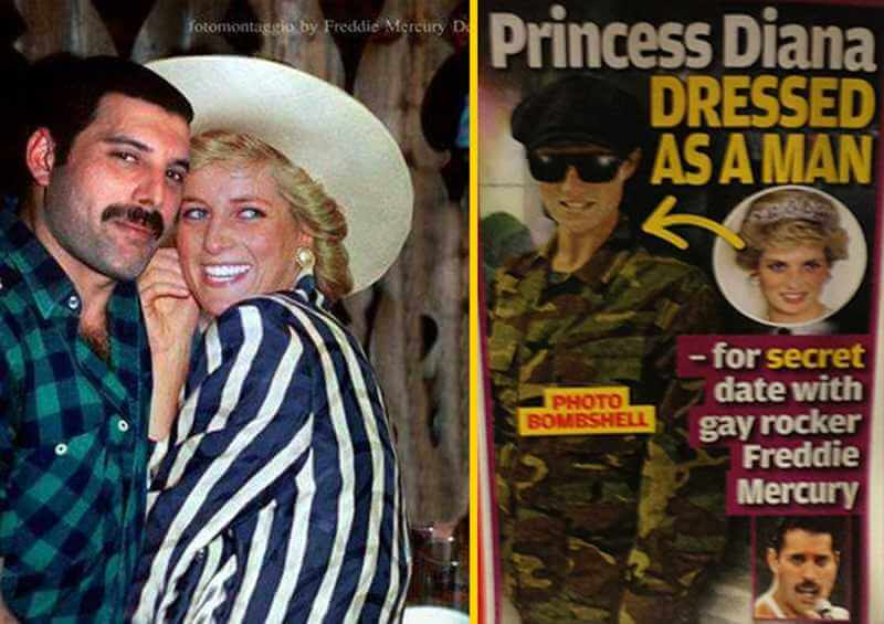 Freddie Mercury et Princesse Diana
