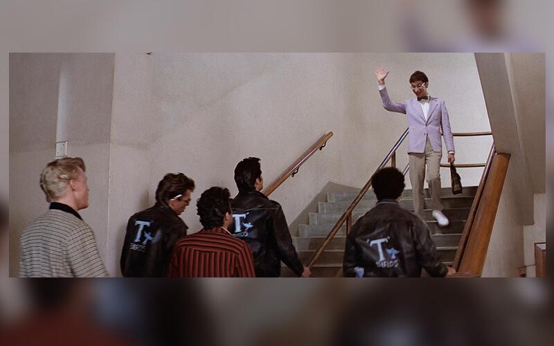 Les escaliers du lycée Huntington Park High School