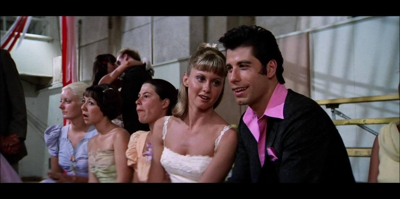 Grease Danny Zuko et Sandy au bal de fin d'année