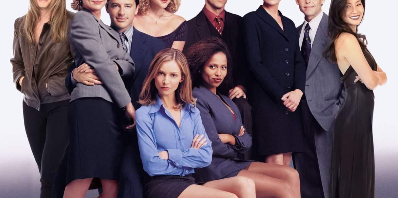 Toute l'équipe de la série des années 90 Ally McBeal