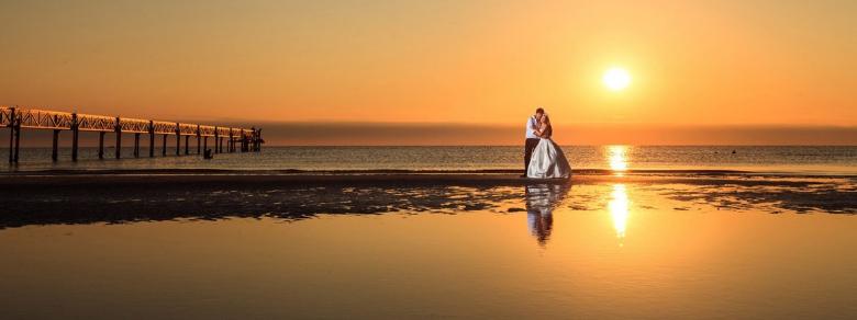 Matrimonio celebrato dentro il mare dei Caraibi