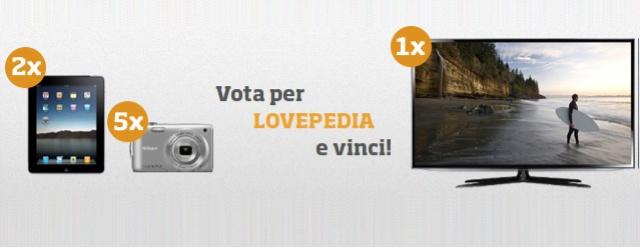 Vota Lovepedia e vinci fantastici premi