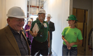 Guided tours of the facility gave the more than 100 attendees a chance to see the progress through construction.