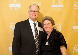 Ralph Flori, PetE'79, MS PetE'81, PhD PetE'87, associate professor of petroleum engineering, poses with his wife, Beverly, Chem'79, MS Chem'85.