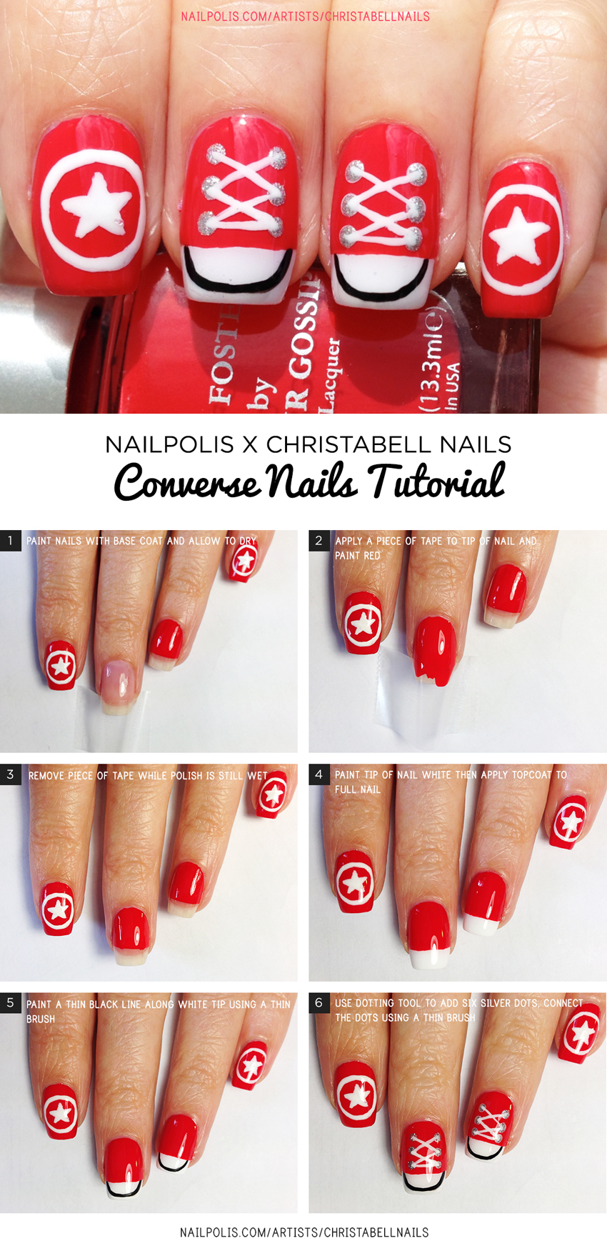 Chriell Nails Sneakers Converse Tutorial