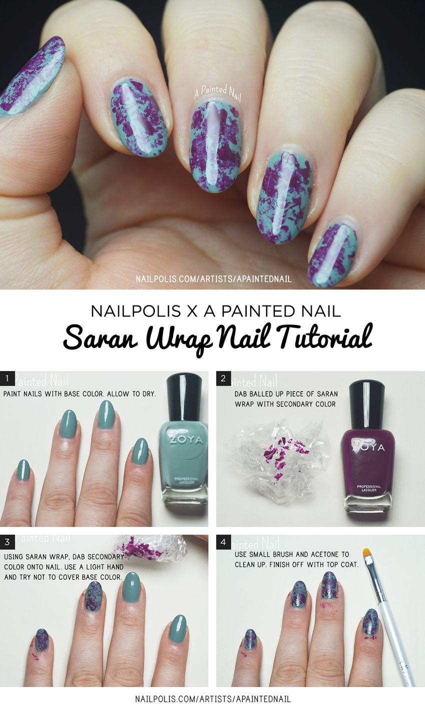 Saran Wrap Tutorial Bridget A Painted Nail