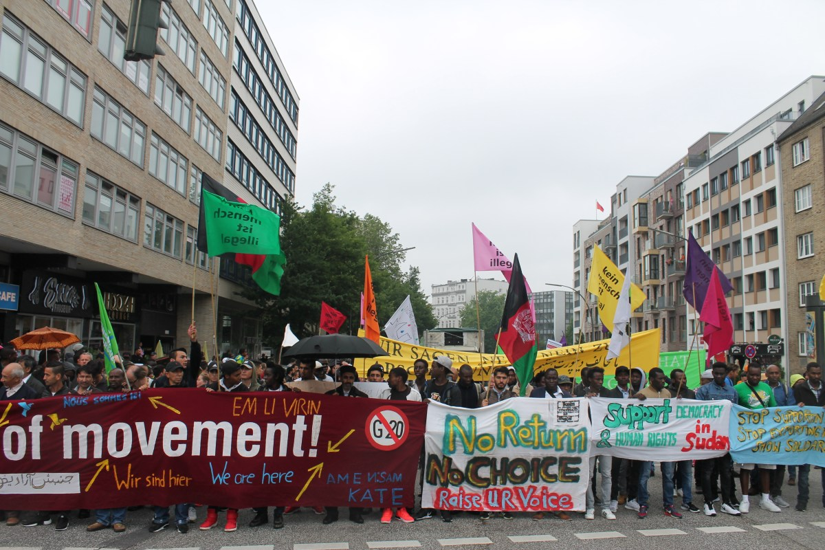 We Are Here Demonstration am 24.07.2017 in Hamburg