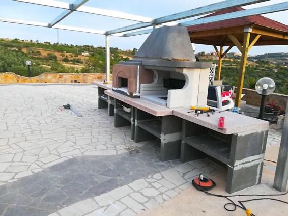 Installazione del barbecue Malibù 2 Palazzetti