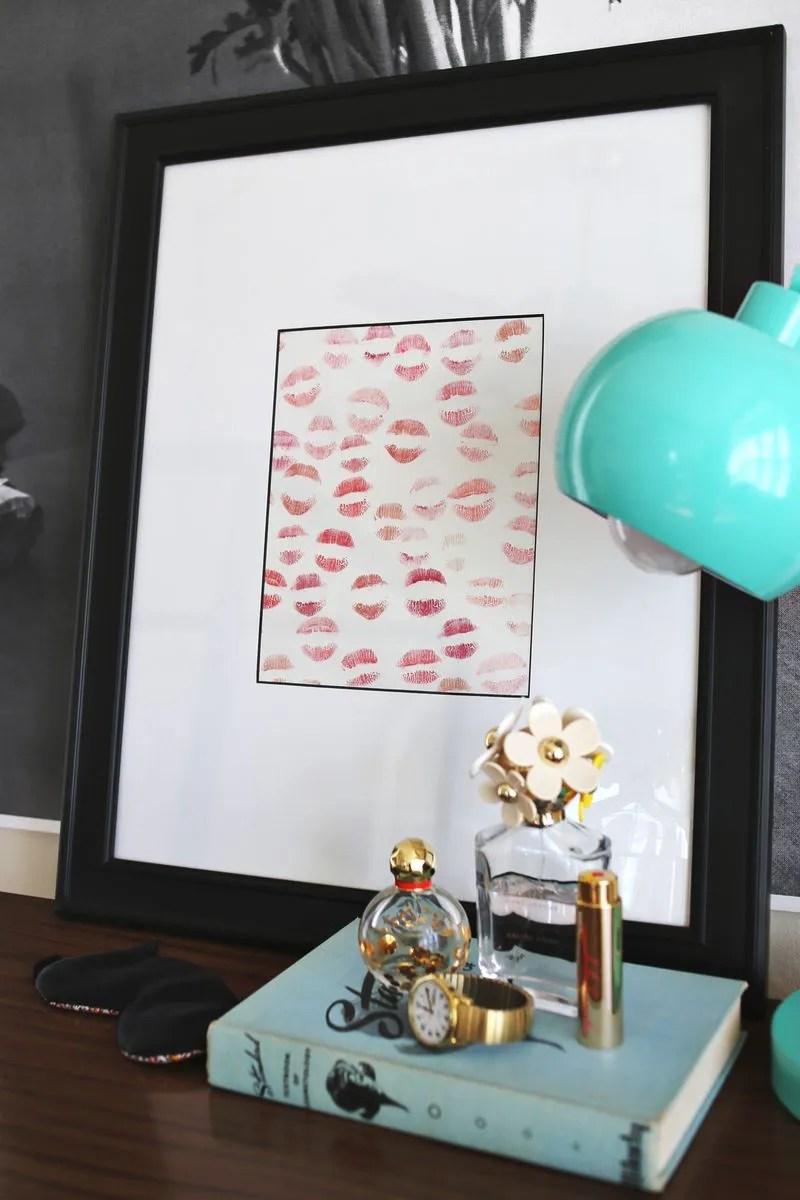 san valentino - quadro con baci